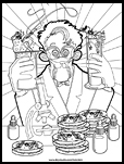 Mad Scientist Coloring Page